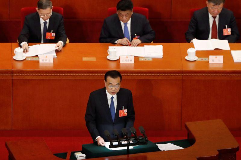 © Reuters. LA CHINE RENONCE À UN OBJECTIF DE CROISSANCE ÉCONOMIQUE ANNUELLE
