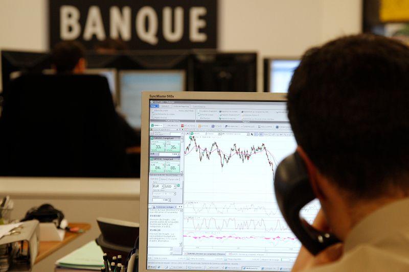 © Reuters. RISQUE IMPORTANT DE CORRECTION BOURSIÈRE AU 2E SEMESTRE, SELON SAXO BANQUE