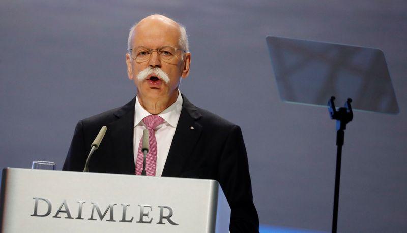 © Reuters. DAIMLER: ZETSCHE RENONCE À LA PRÉSIDENCE DU CONSEIL DE SURVEILLANCE