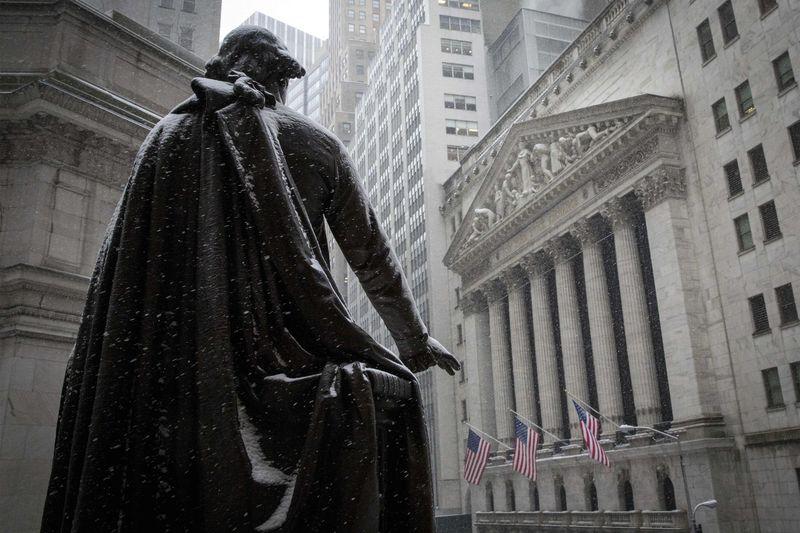 © Reuters. États-Unis: Les marchés actions finissent en hausse; l'indice Dow Jones Industrial Average gagne 0,43%