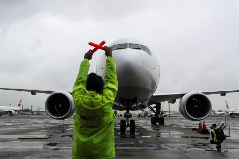 © Reuters. LE SECTEUR AÉRIEN VA PERDRE 157 MILLIARDS DE DOLLARS EN 2020-2021, SELON L'IATA