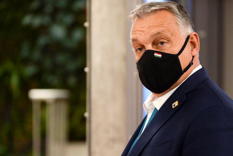 © Reuters. BUDGET EUROPÉEN: ORBAN PRÔNE LA POURSUITE DU DIALOGUE