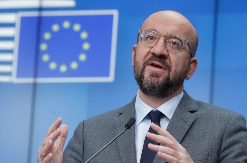 © Reuters. L'UE FERA RESPECTER LES CONTRATS DE LIVRAISON DE VACCINS, PRÉVIENT LE CONSEIL EUROPÉEN